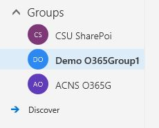 Access Office 365 Groups from the Portal